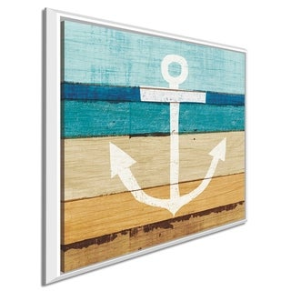 "Michael Mullan ""Beachscape III Anchor""Canvas Print in Floating Frame"