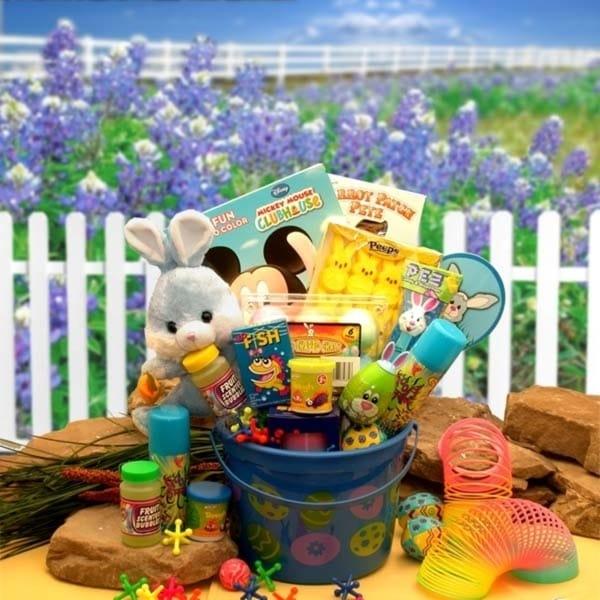 Little Bunny Blue Easter Fun Pail 33931703