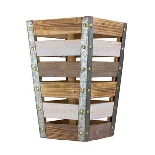 American Art Decor Medium Wood Metal Storage Crate