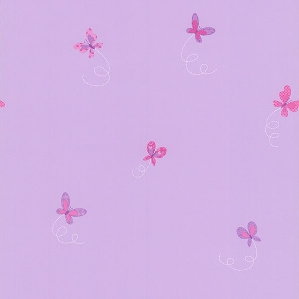Flutter-By Purple Butterflies Wallpaper