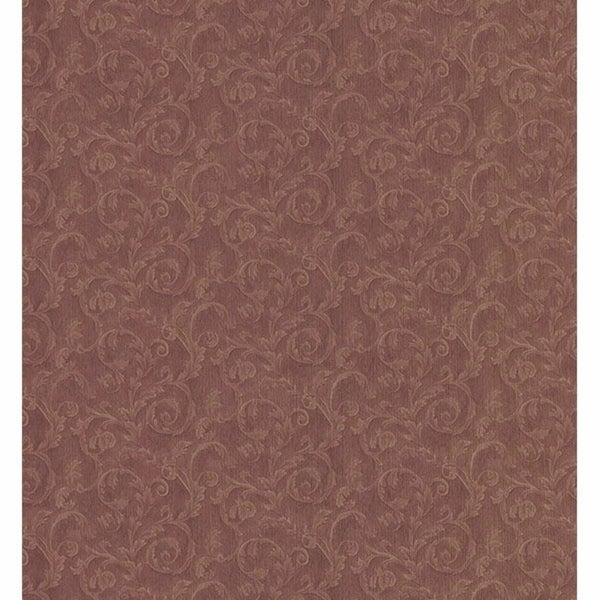Althea Burgundy Small Scroll Wallpaper