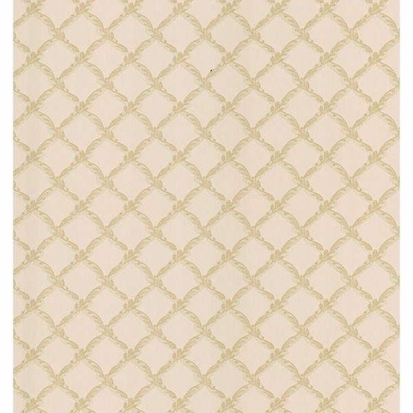 Evelina Beige Trellis Wallpaper