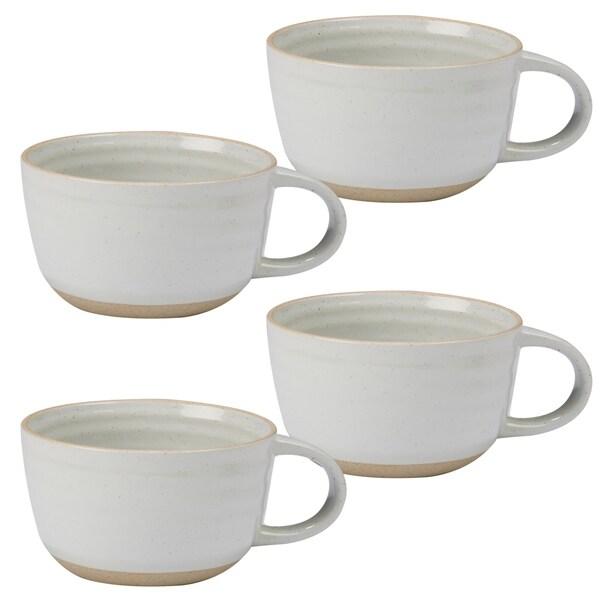 Certified International Artisan White 26-ounce Jumbo Cups (Set of 4) 33981124