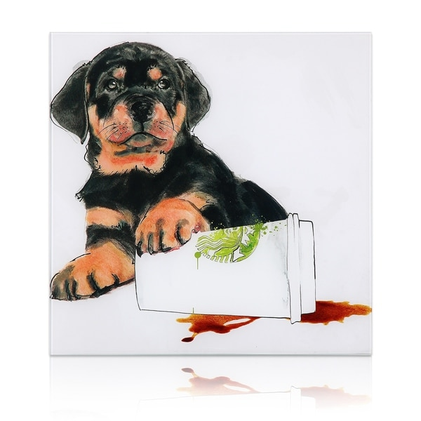 "Empire Art ""Java's Paw"" Frameless Free Floating Tempered Art Glass by EAD Art Coop 33988680"