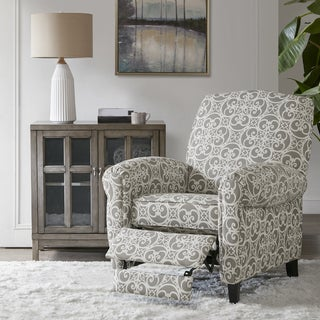 Madison Park Oscar Grey Push Back Recliner