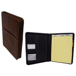 Amerileather Leather Zip Writing Portfolio Cover