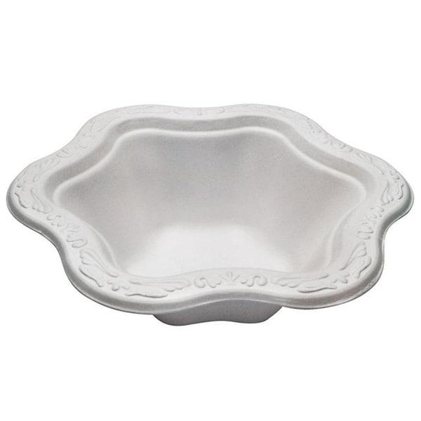 12 oz Acanthus Collection Floral Premium White Bowls (50) 34001942