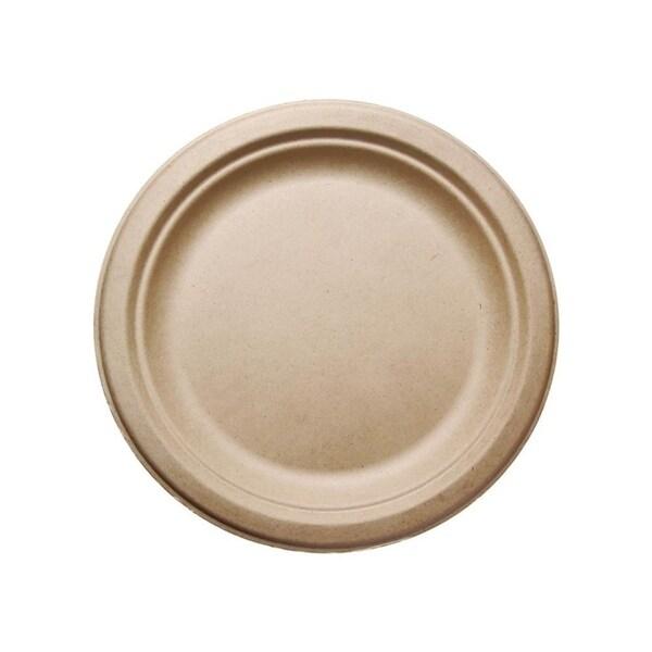 "9"" Round Bagasse Plates (50) 34001956"