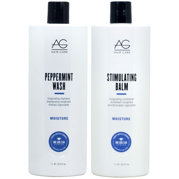 AG Hair Peppermint Wash 33.8-ounce Shampoo & Stimulating Balm Conditioner Duo 34037894