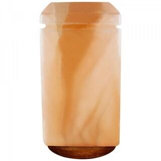 Himalayan Crystal Pink Salt Lamp Decorative Rectangle Shape Table Lamp - Amber
