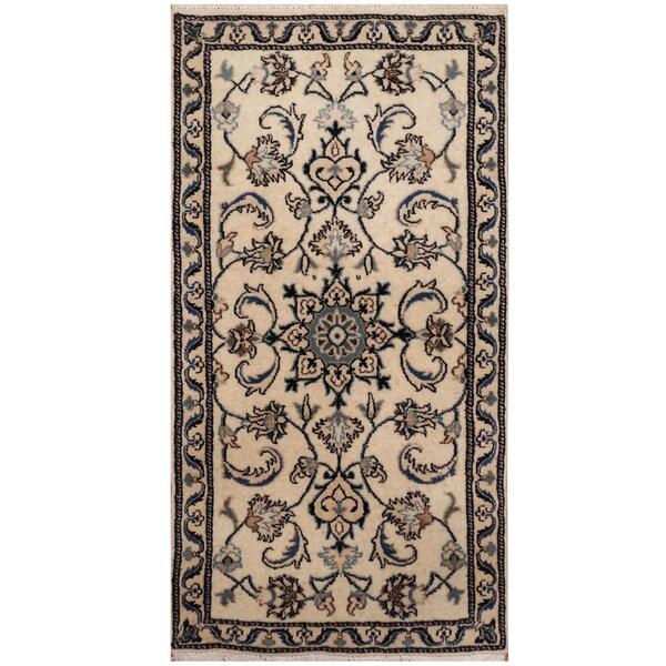 Handmade Herat Oriental Persian Hand-knotted Nain Wool & Silk Rug (2'3 x 4'7) - 2'3 x 4'7 34053497