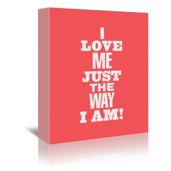 Americanflat 'I Love Me Just The Way I Am' Gallery Wrapped Canvas 34056703