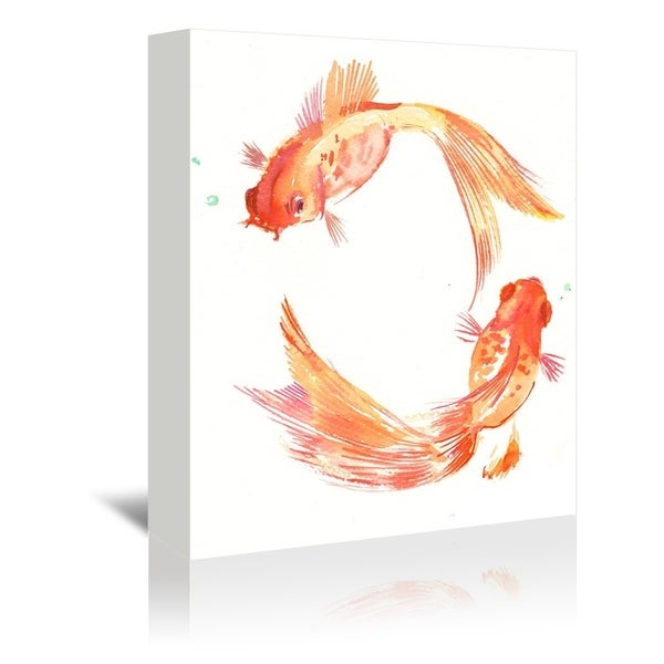 Americanflat 'Gold Fish Feng Shui' Gallery Wrapped Canvas 34063078
