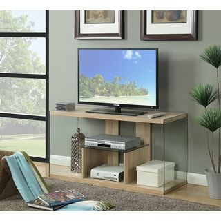 Porch & Den Urqhuart Wood/ Glass TV Stand