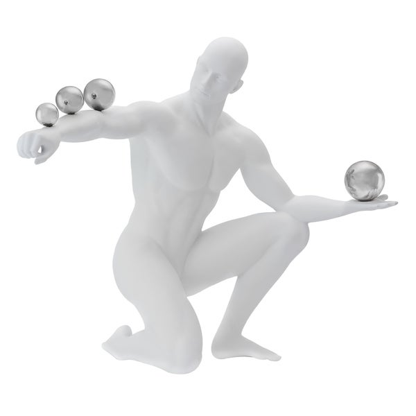 Cirque Collection-  The Juggler Matte and Chrome Figurines 34088195