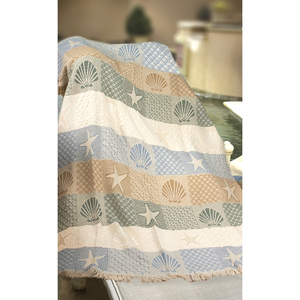Manual Woodworkers Seashells By The Seashore Woven Throw 34103165