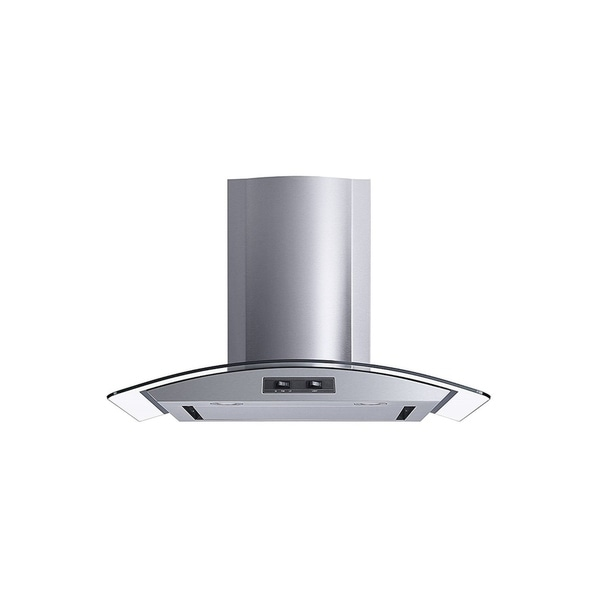 "Winflo O-W101C30SR 30"" 400 CFM Convertible Stainless Steel/Glass Wall Mount Range Hood 34127758"