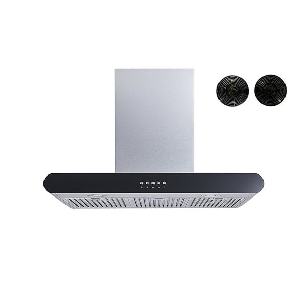"Winflo O-W152C30DF 30"" Convertible Stainless Steel Wall Mount Range Hood with Carbon Filters 34127770"