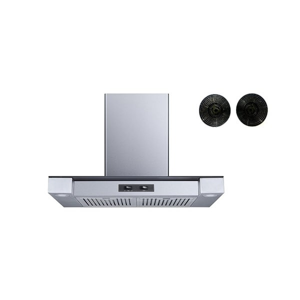 """Winflo O-W155C30DRF 30"""" Convertible Stainless Steel Wall Mount Range Hood with Carbon Filters 34127776"""