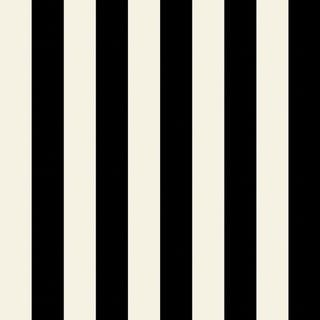 "Manhattan Comfort McKinney 32.7 Ft. x 20.5 In. Vinyl Black 1"" Striped Wallpaper Covering"