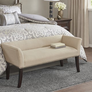 Madison Park Antonio Cream Upholstered Accent Bench