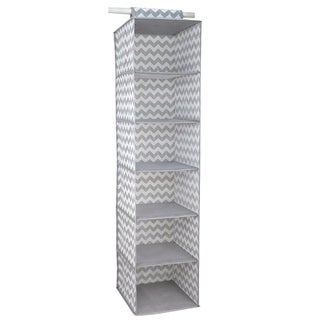 Home Basics Grey Chevron 6-shelf Closet Organizer