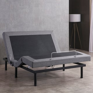 Classic Brands Adjustable Bed Base with Massage Wireless Remote and USB Ports