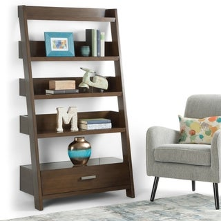 "WYNDENHALL Harriet SOLID WOOD 66 inch x 36 inch Contemporary Ladder Shelf - 36""w x 16""d x 66"" h"