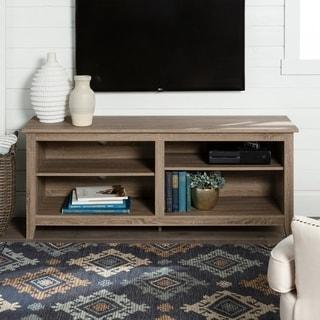 Porch & Den Dexter 58-inch Driftwood TV Stand Console