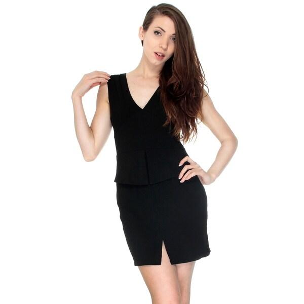 Women Summer Sleeveless Dress Business Attire Casual Skirt, Black L