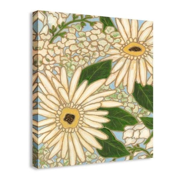 Easy Art Prints Karen Deans's 'White Flower Spray I' Premium Canvas Art 34253859