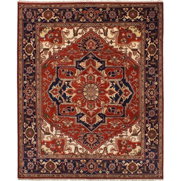 eCarpetGallery  Hand-knotted Serapi Heritage Red Wool Rug (8'1 x 9'10) 34269055