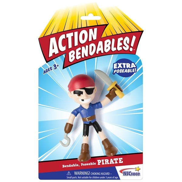 "NJ Croce ACTION BENDALBES! - 4"" Pirate Action Figure 34270219"