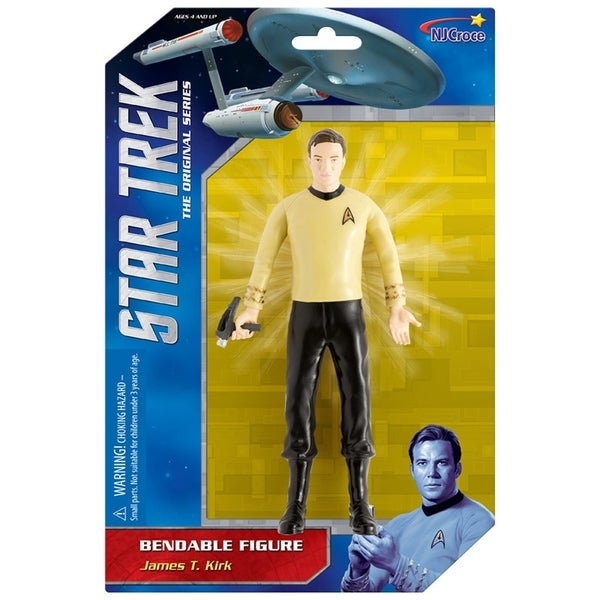 "NJ Croce Star Trek: Captain Kirk 6"" Benbable Action Figure 34270248"