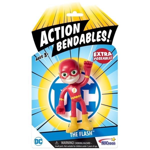 """NJ Croce DC Comics ACTION BENDALBES! - 4"""" The Flash Action Figure 34270257"""