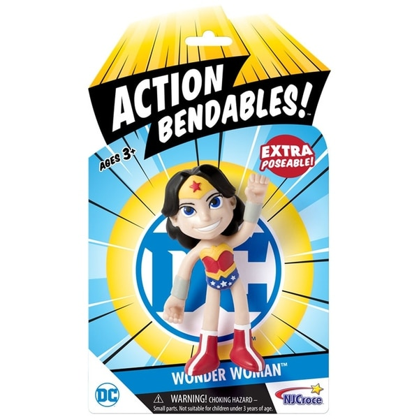 """NJ Croce DC Comics ACTION BENDALBES! - 4"""" Wonder Woman Action Figure 34270259"""