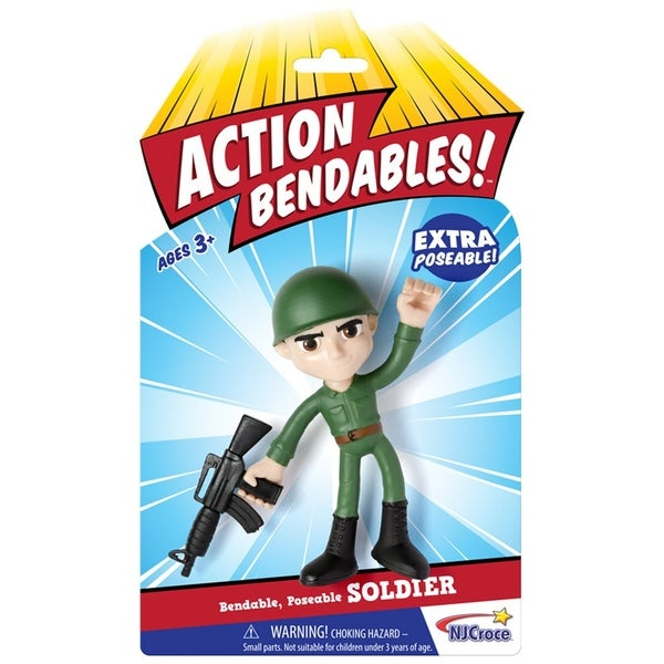 "NJ Croce ACTION BENDALBES! - 4"" Soldier Action Figure 34270267"