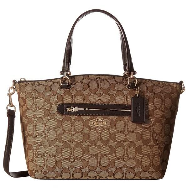 COACH Signature Prairie Light Gold/Khaki/BrownSatchel Handbag