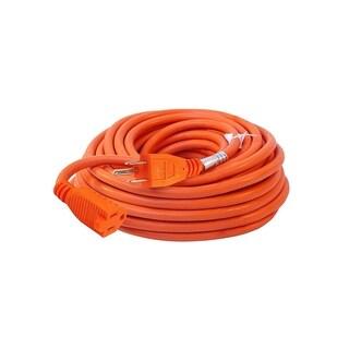 ALEKO ETL Extension Cord Lighted Plug SJTW 16/3 Indoor Outdoor 50 ft