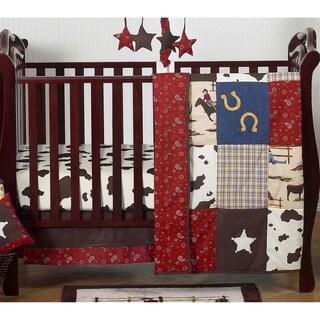 Sweet Jojo Designs Wild West Cowboy 4-piece Bumperless Crib Bedding Set