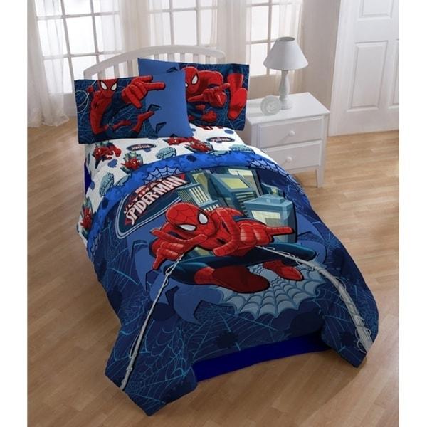 Marvel Spiderman 'Astonish' Full Reversible Comforter Set 34293609
