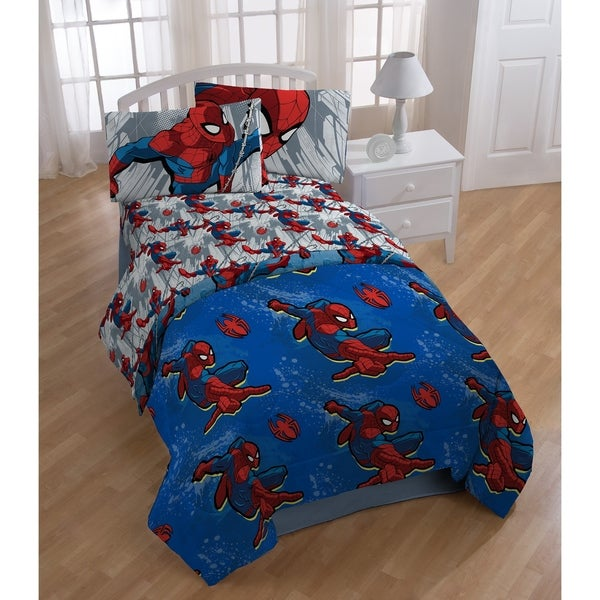 Spiderman City Graphic Reversible Twin Comforter 34293620