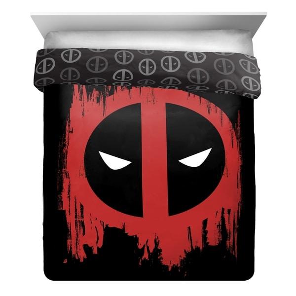Marvel Deadpool Invasion Reversible Full/Queen Comforter 34293623