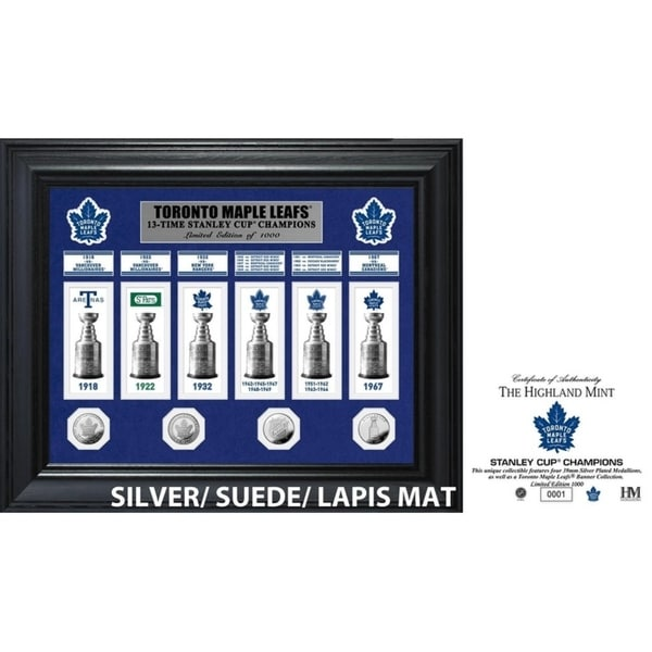Toronto Maple Leafs 13-Time Stanley Cup Champions Deluxe Gold Coin & Banner Collection 34296271