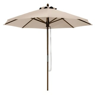 Classic Accessories Montlake Fadesafe 9' Round Bamboo Patio Umbrella