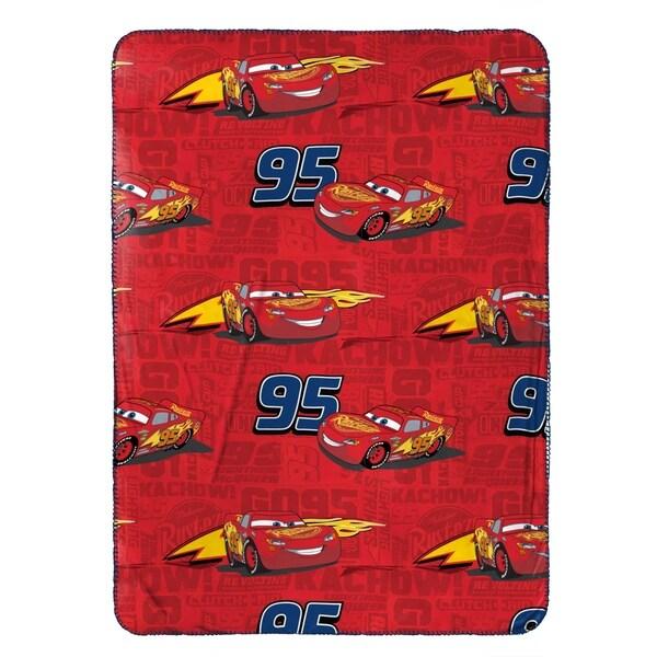 "Disney/Pixar Cars 3 Kachow Red Plush 40"" x 50"" Travel Blanket 34309649"