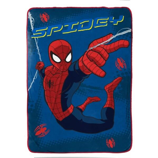 "Marvel Spiderman 'Graphic' Plush Fleece Twin Blanket, 62"" x 90"" 34309666"