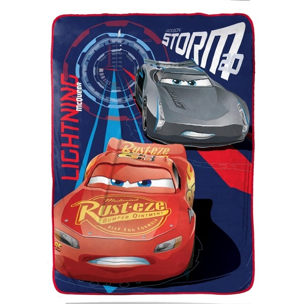 "Disney/Pixar Cars 3 Movie High Tech Plush 62"" X 90"" Twin Blanket 34309678"