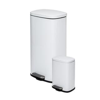 Honey-Can-Do 30L & 5L Rectangular Trash Can Combo