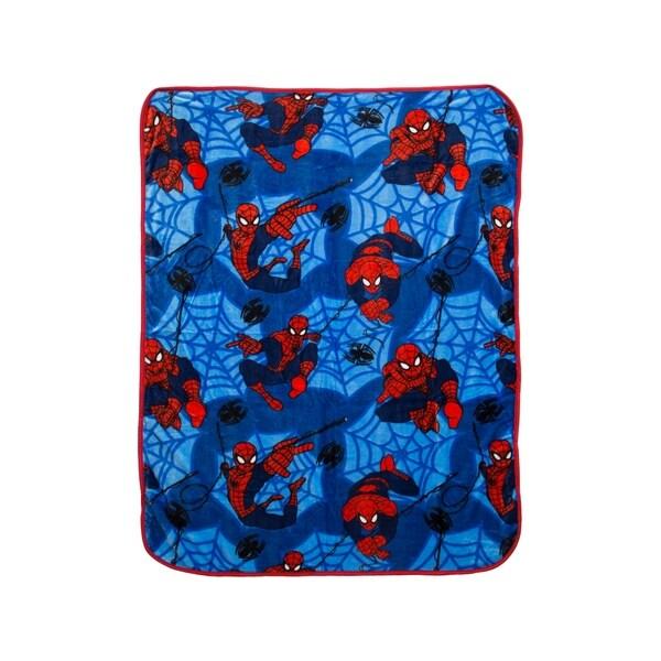 Marvel Spiderman Silk Touch Plush Throw 34311412